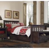 kenwood slatted twin size bed in espresso