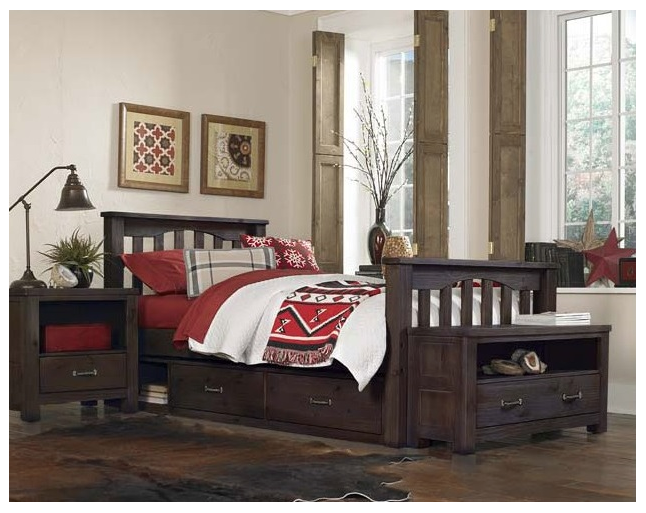 Kenwood Collection Slatted Bed In Espresso Kids Furniture In Los Angeles