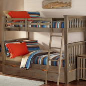 kenwood harper full over full bunk in driftwood