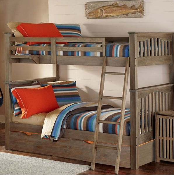 Kenwood Collection Full Over Full Bunk Bed In Driftwood