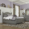 beach house twin size poster bed in gray finish with trundle