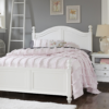 beach house full size poster bed in white with trundle