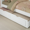 beach house twin poster bed in white with trundle