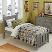beach house twin poster bed in grey