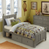 beach house kennedy panel bed in stone