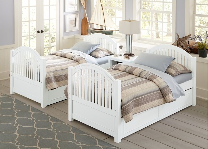 White Bunk Bed Lake House Kids Only Furniture