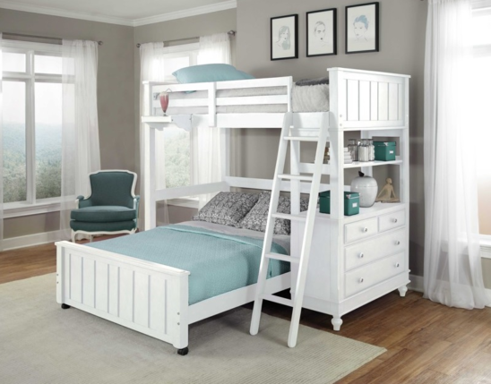 beach house twin loft with bottom bed