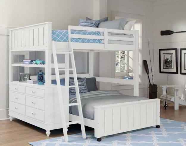 Beach House Full Size Loft In White Kids Furniture In