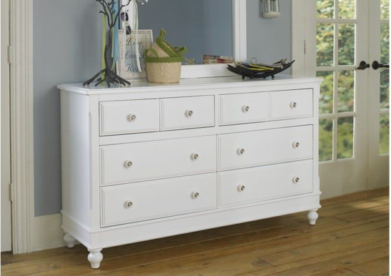 beach house dresser in white