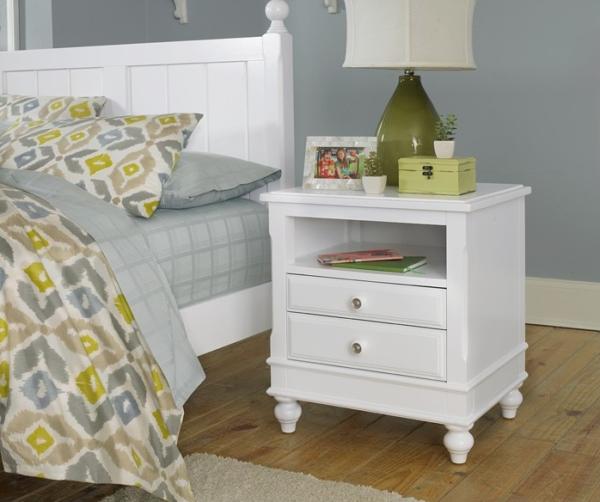 beach house nightstand in white