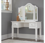 beach house vanity in white