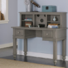 beach house desk with hutch in stone