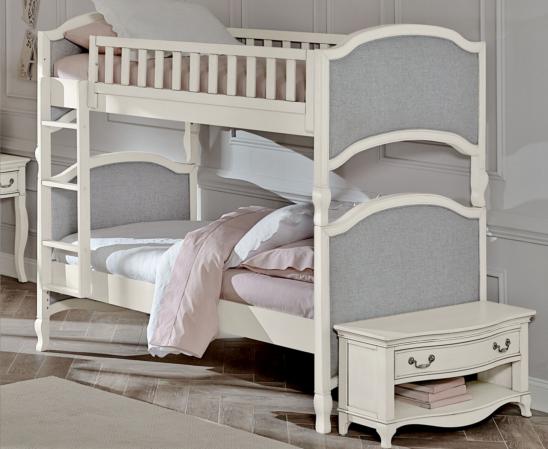 alexandria victoria twin over twin bunk in antique white