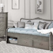 alexandria elizabeth daybed in antique silver