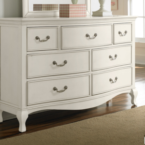 alexandria double dresser in antique white