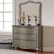 alexandria dresser in antique silver