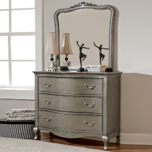 alexandria dresser in antique silver