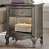 alexandria nightstand in silver