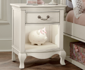 alexandria nightstand in white