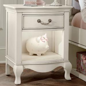 alexandria nightstand in white