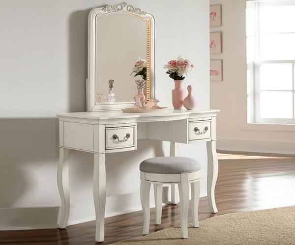 Alexandria Desk and Lighted Vanity