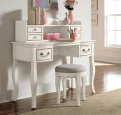 kensington desk and hutch in antique white