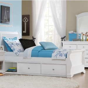 Walnut Street Collection Riley Bed in White
