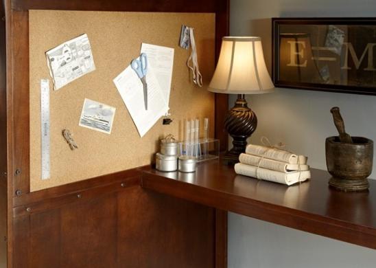 Langley Loft with Desk in Chestnut
