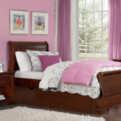 Walnut Street Collection Riley Bed in Chestnut
