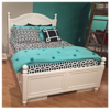 Beach House Collection Curved Bed in White