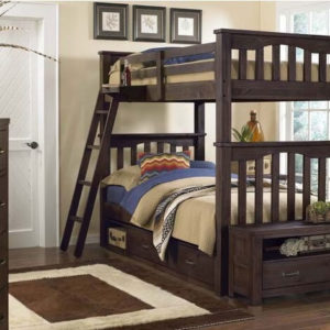 kenwood Twin over Twin Bunk Bed in Espresso 1
