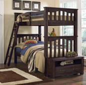 kenwood Twin over Twin Bunk Bed in Espresso