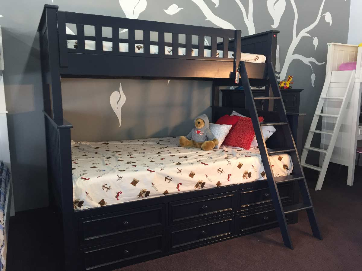 Campground Collection Twin Over Full Bunk Bed With Captain