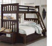 kenwood twin over full mission style bunk bed