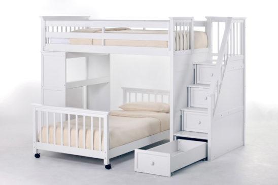 schoolhouse stairway loft bed by ne kids