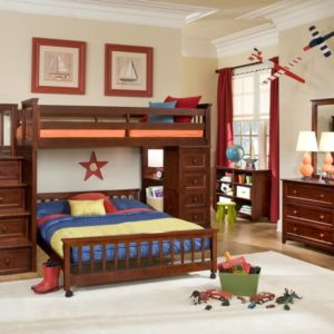 schoolhouse stairway loft bed by ne kids