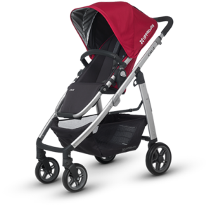 Cruz in Denny (Red and Silver) stroller