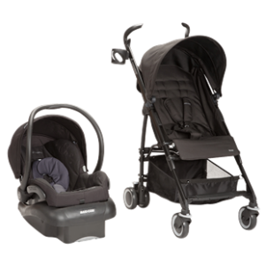 Kaia Mico Nxt Travel System in Total Black