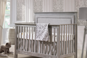 nest juvenile emerson convertible crib with upholstered panel
