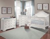 stella baby athena convertible crib in Belgium cream