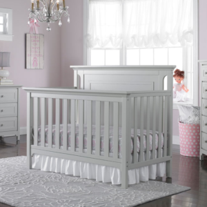 ti amo carino convertible crib in misty grey