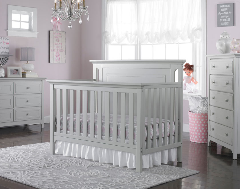 Ti Amo Carino Convertible Crib In Misty Grey Kids