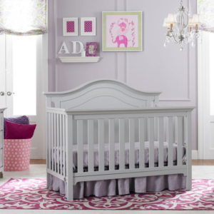 ti amo catania convertible crib in misty grey