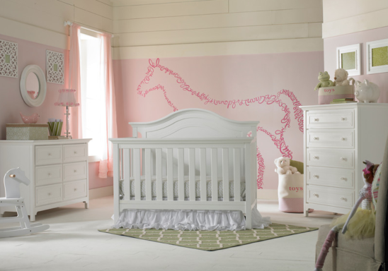 ti amo catania convertible crib in snow white