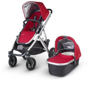 Uppababy Vista in Denny (Red and Silver) stroller