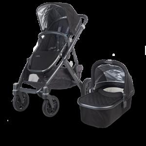 Uppababy Vista in Jake (Black and Carbon) stroller