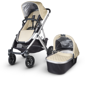 Uppababy Vista in Lindsey (Wheat and Silver)