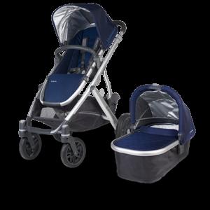 Uppababy Vista in Taylor (Indigo and Silver) stroller