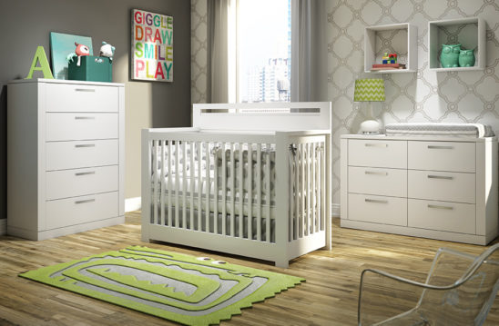 nest juvenile milano convertible crib in white