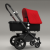 Bugaboo Cameleon Bassinet Stroller with Red